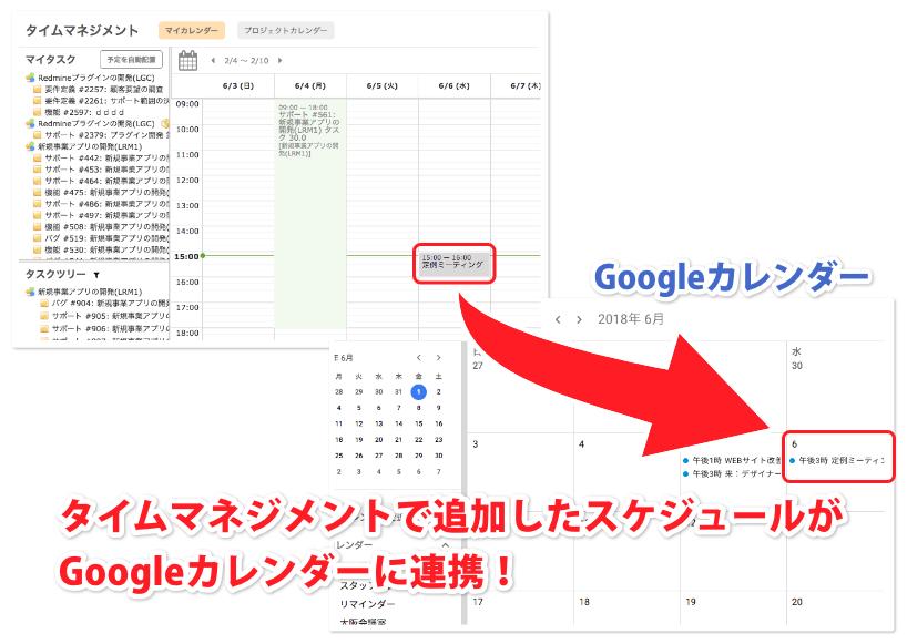 スケジュールをGoogleカレンダーに連携