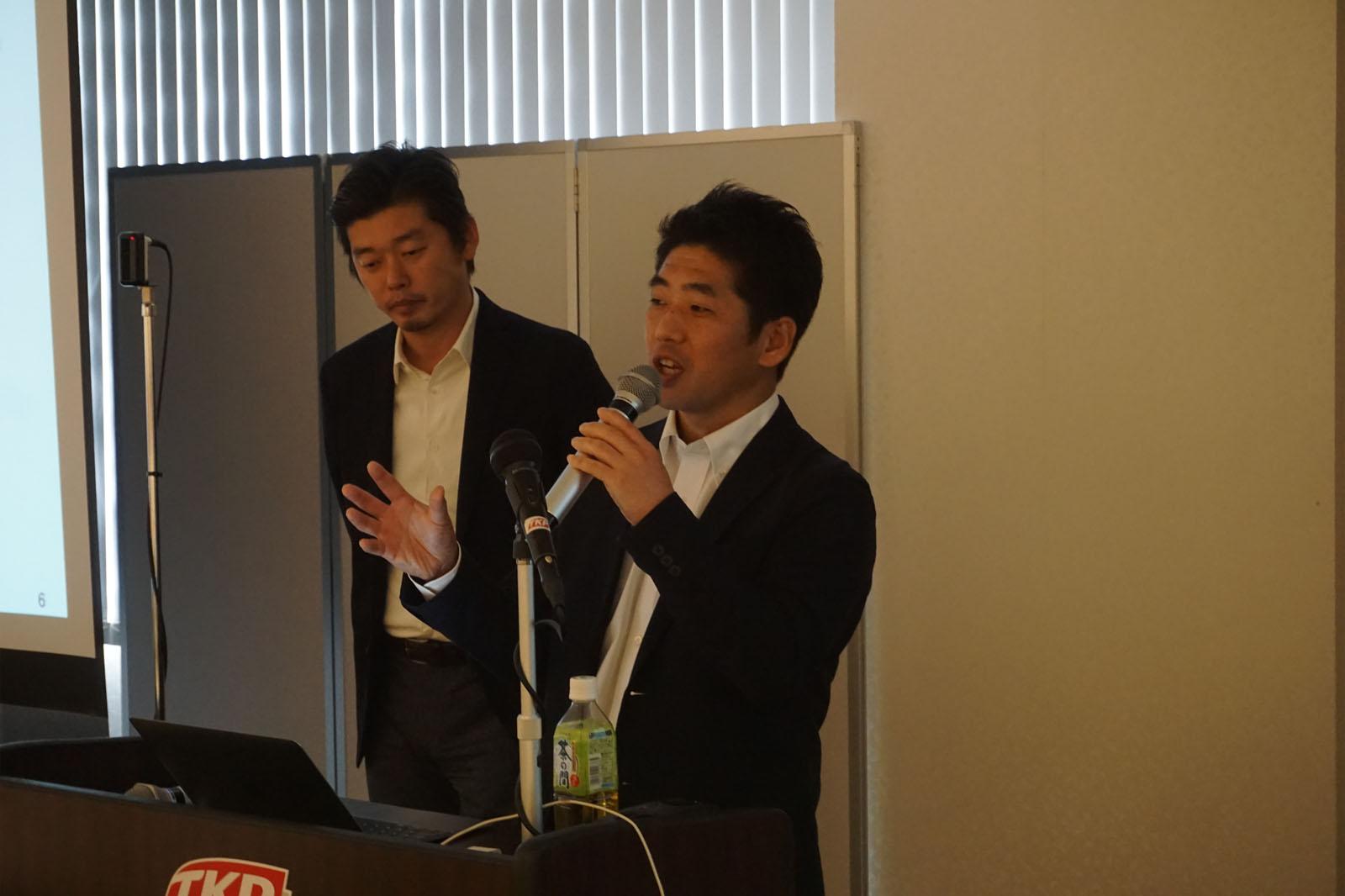 株式会社アジャイルウェア 代表取締役CEO川端 光義(写真左)株式会社アジャイルウェア水口 崇(写真右)